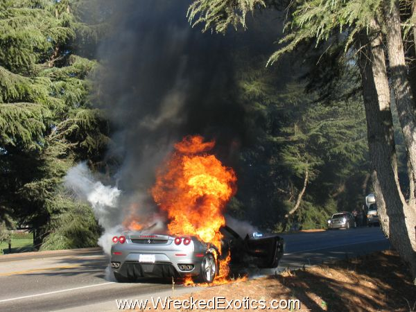 World Most Expensive Car >> Exotic Cars on Fire | WreckedExotics.com