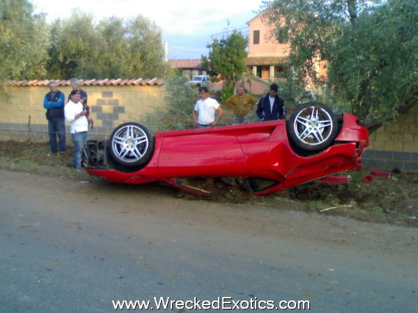 Ferrari F430 Upside Down