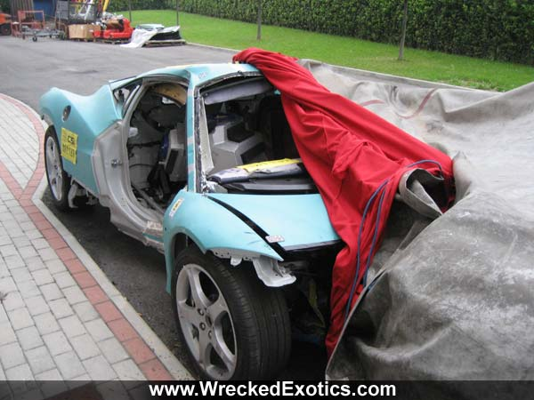 spy photos: ferrari f458 italia crash test