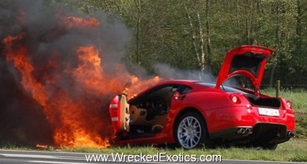 Ferrari 599 GTB on Fire