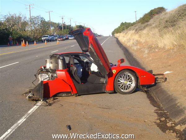 this 13 million car on the pacific coast highway when he lost control and crashed into a utility pole miracolously he walked away from the accident