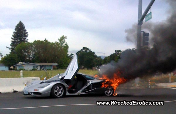 $2 million mclaren f1 goes up in flames