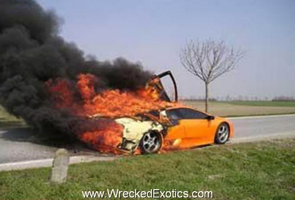 Lamborghini Murcielago on Fire