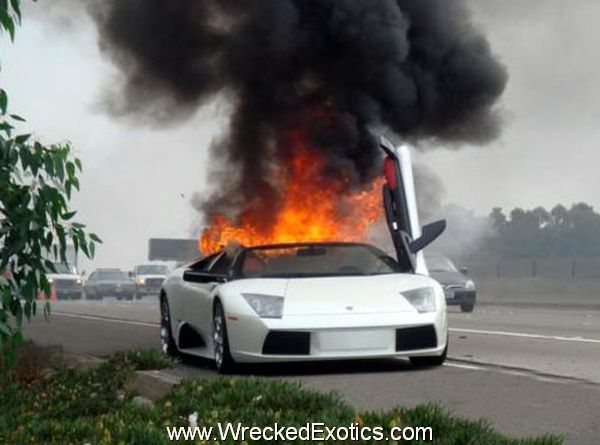 Exotic Cars On Fire