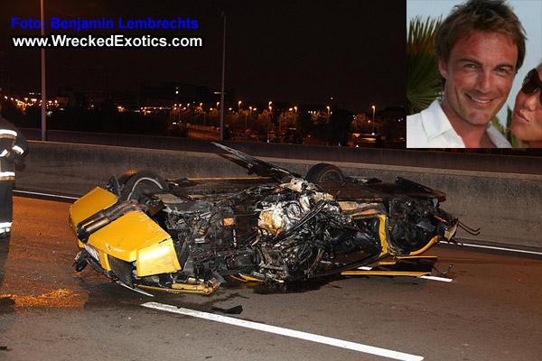 Lamborghini Murcielago Flips During Alleged Race Killing Driver