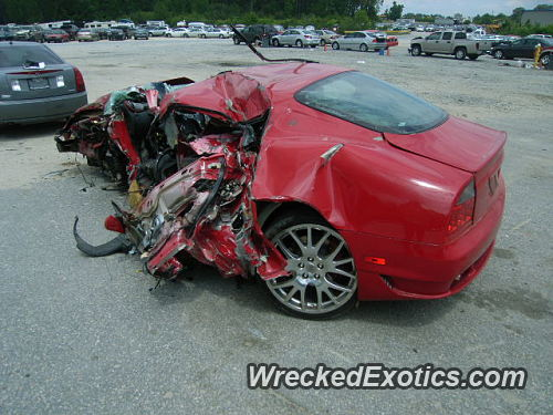 2005 maserati gransport wrecked in raleigh north carolina