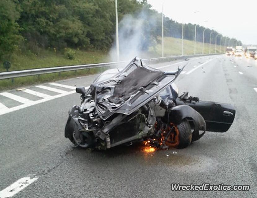 2003 Aston Martin Db7 Vantage Coupe Wrecked In Belgium