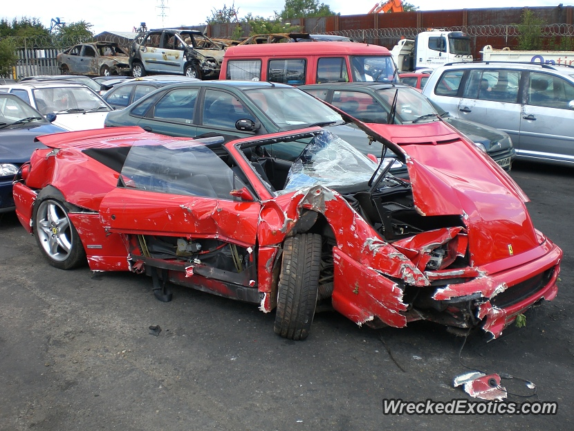 1997 Ferrari F355 Spider Wrecked In Maidenhead
