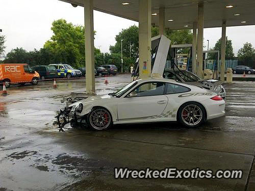 This $150,000 Porsche Crashed Into a BP Gas Station  Perhaps he Was