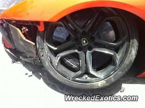 Lamborghini Aventador Wrecked In Dubai United Arab Emirates