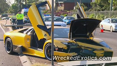 Lamborghini Murcielago Wrecked In Sydney Australia