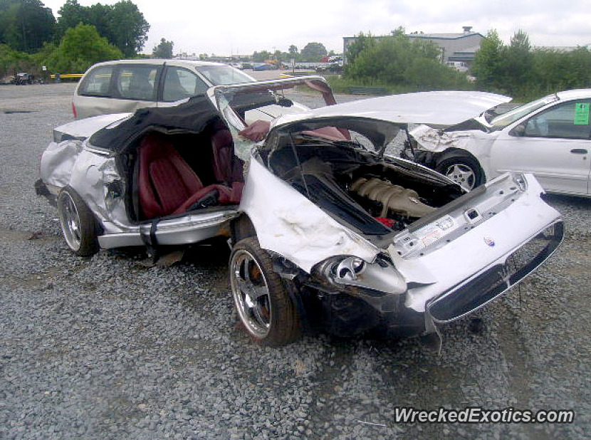 2002 Maserati M138 Spyder Wrecked In Raleigh North Carolina