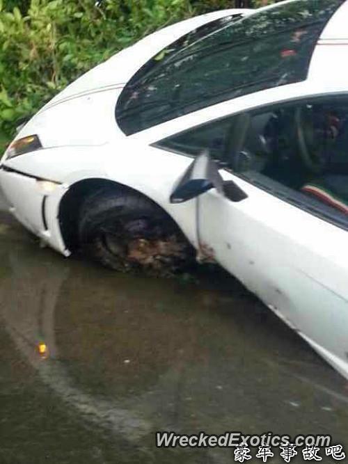 Lamborghini Gallardo Lp550 2 Tricolore Wrecked In Guangdong China