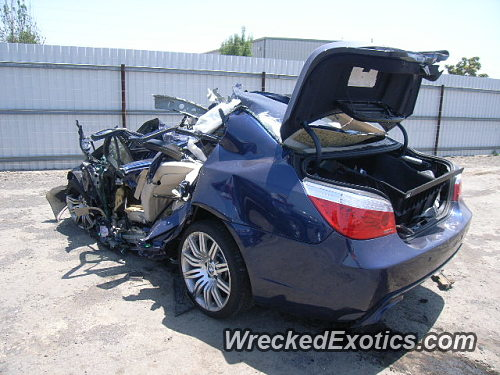 2008 Bmw 550i Wrecked in Bakersfield, California