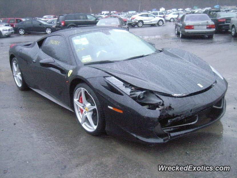 The 458 Wrecks Are Piling up. Here\'s Another One From New Jersey...