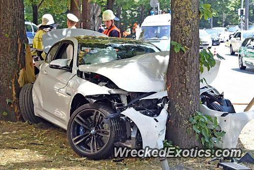 20 Year Old Driver Crashes the First BMW M4