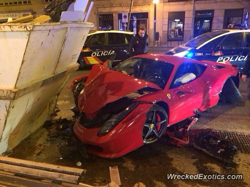 Lost Control While Trying To Overtake Another Car, Crashed Into A Trash  Bin. The Gallery