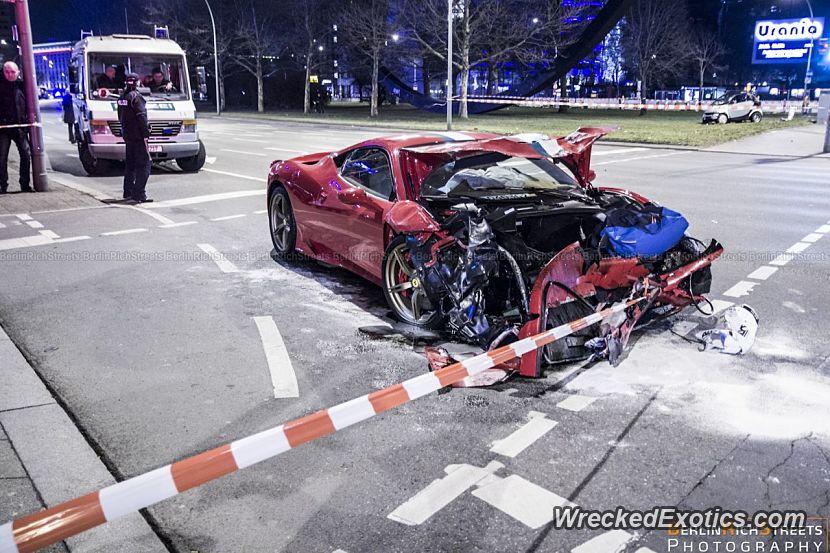 Ferrari Driver Female Was Speeding When A Smart Car Made A Left Turn In Front