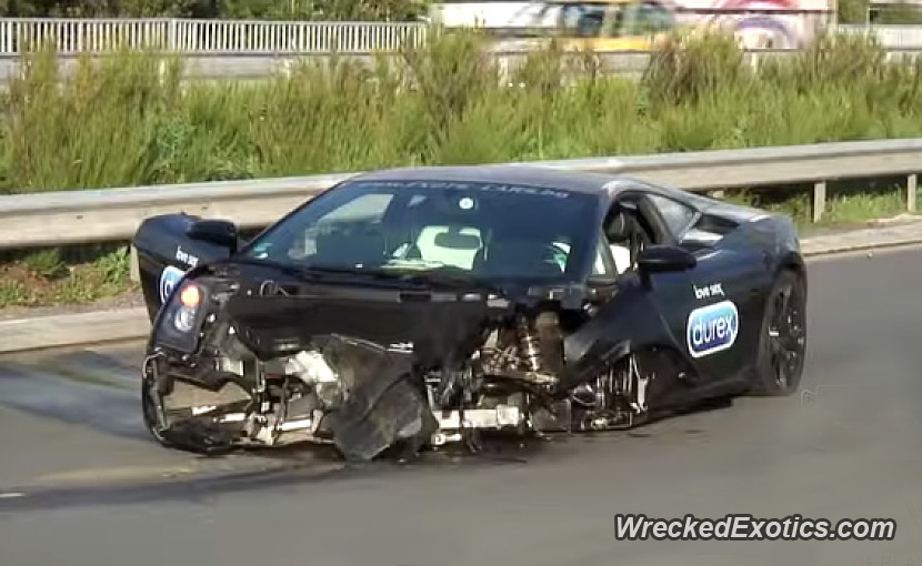 Special Edition Lamborghini Gallardo Nera Crashed While Racing