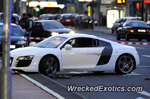 The Driver Of This R8 Was Involved In A Police Chase After A