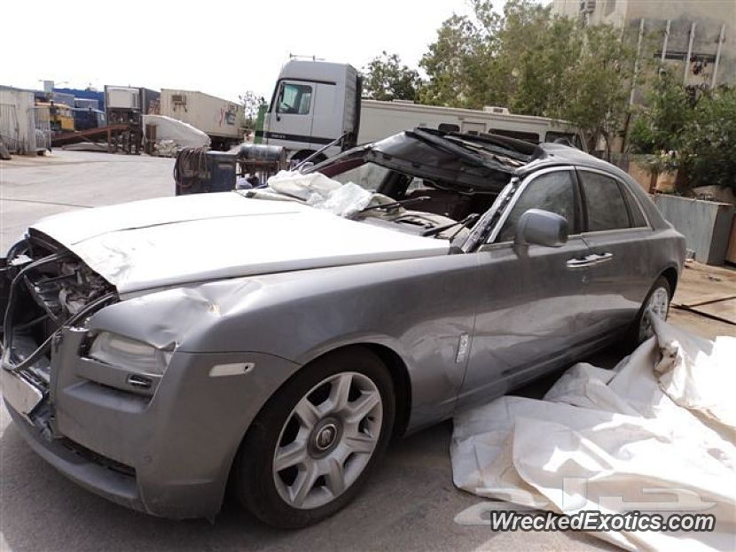 2012 Rolls Royce Ghost Wrecked In Dammam Saudi Arabia