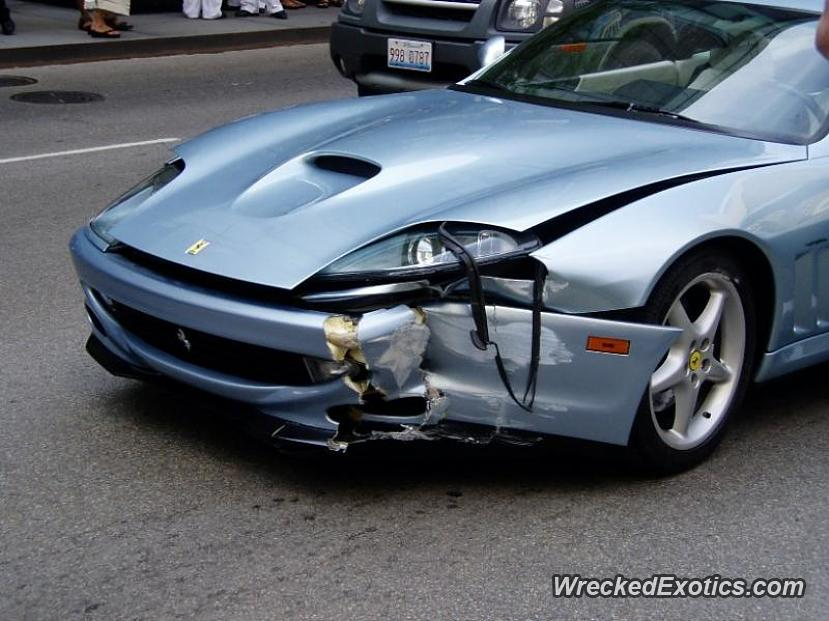 Ferrari 575 Wrecked In Chicago Illinois