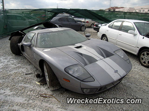 Brutal Rear End Collision  Ford Gt Happened In Miami Florida Usa