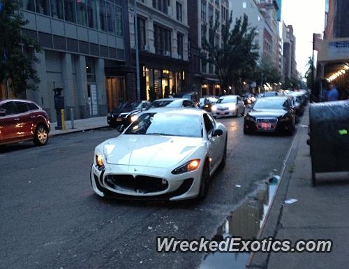 A Reporter Lost Control Of A Stunning Maserati Granturismo MC Stradale  While.
