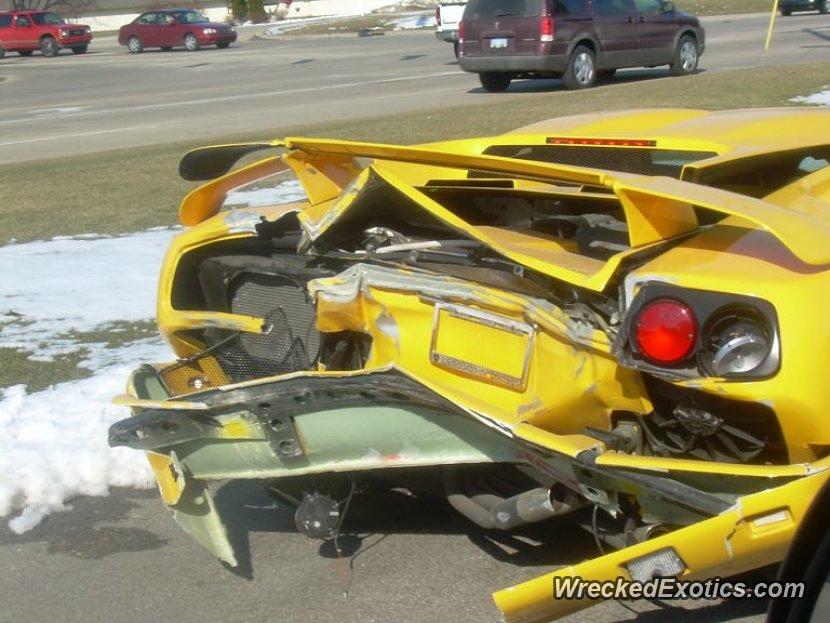 1999 Lamborghini Diablo Wrecked In Grand Rapids Michigan