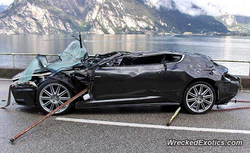 This Brand New Aston Martin Lost Control And Crashed Into A Lake While Being