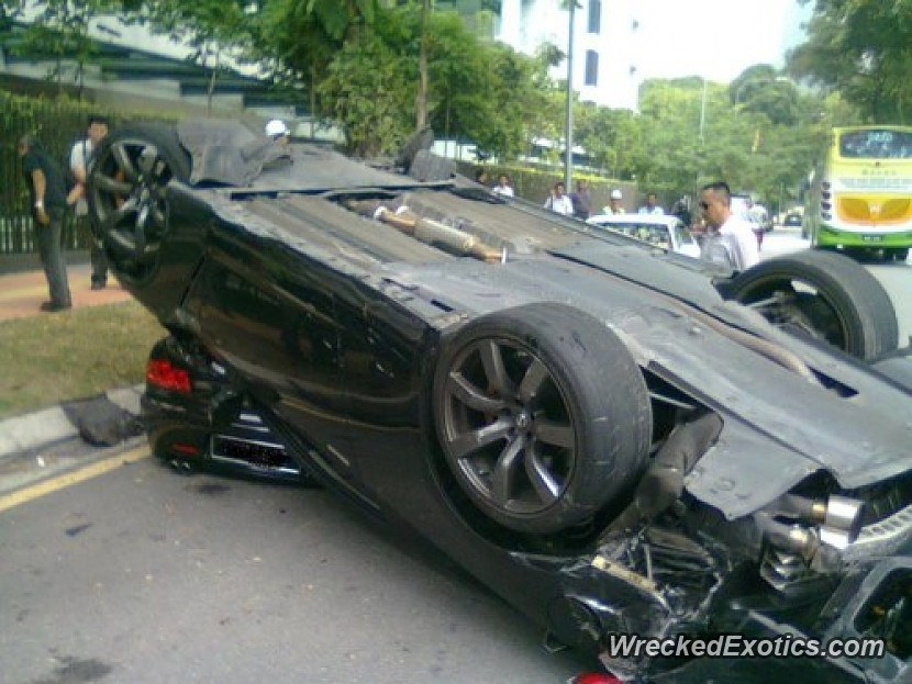 Valet Loses Control, Hits Curb And Ends up on Top of ...