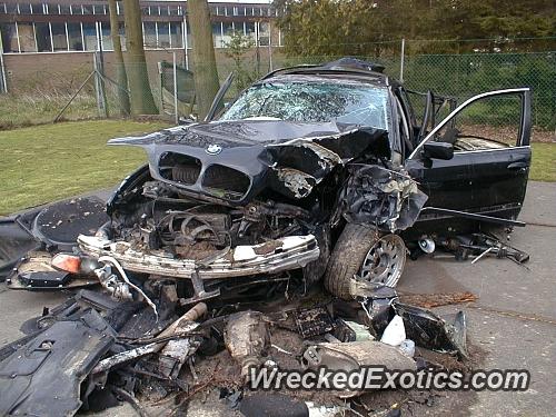 1997 bmw 525 wrecked in belgium