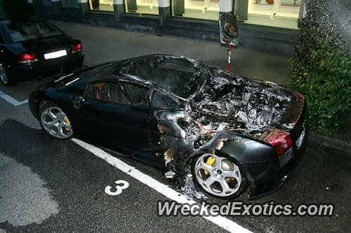 This Lamborghini Caught Fire While There Was A Concert Going On At A