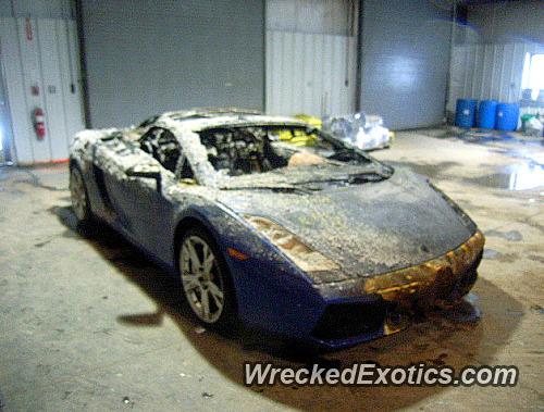2007 Lamborghini Gallardo S Wrecked In Chicago Illinois