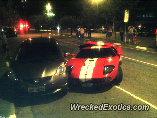 This  Hp Ford Gt Lost Control And Crashed Into A Honda This Is The Nd