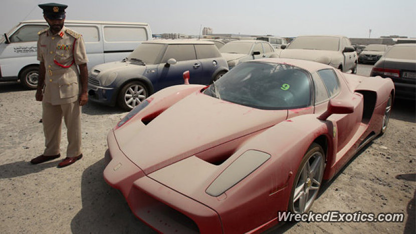 Though This Is Not An Accident This Million Dollar Enzo Ferrari 1 Of 399 Was