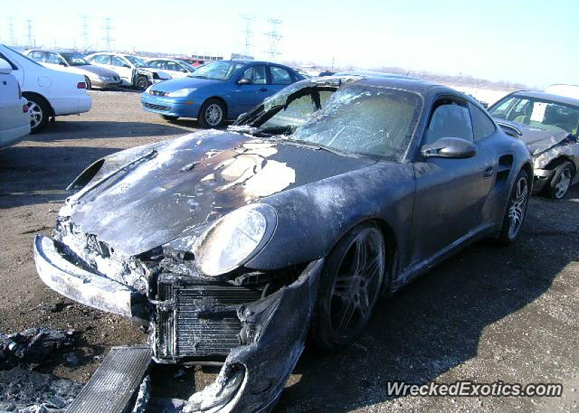 2007 Porsche 911 Turbo Wrecked In Chicago Illinois