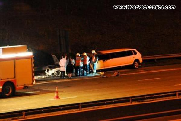 Porsche Cayenne Stretch Limo Wrecked Hognoul Belgium