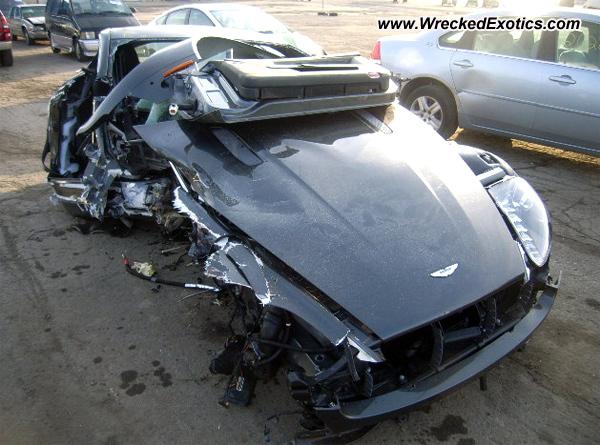 2011 Aston Martin Vantage Wrecked Detroit Mi