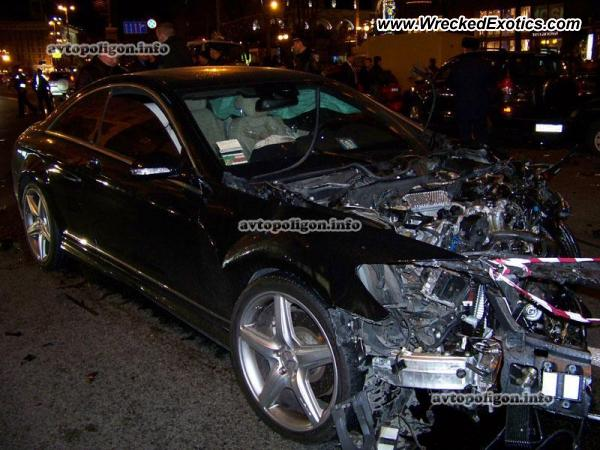 2010 Mercedes Cl500 Wrecked Kiev Ukraine