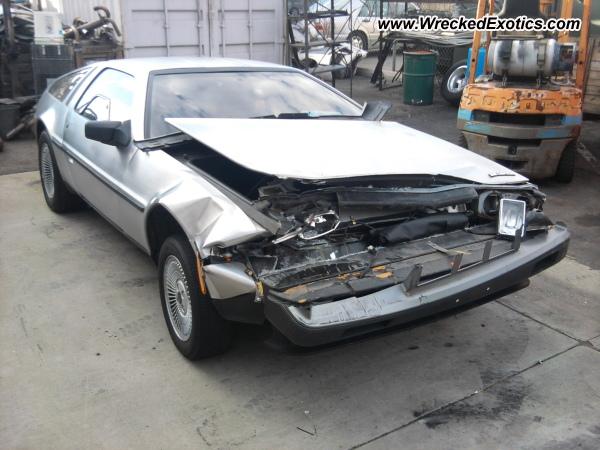1982 Delorean Dmc 12 Wrecked Garden Grove Ca