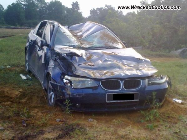 Bmw E60 525i Wrecked Kuala Rompin Malaysia