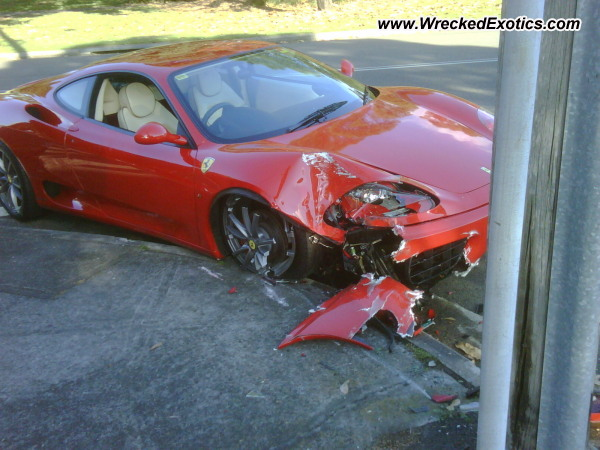 Ferrari 360 Challenge Stradale Wrecked Sydney Australia