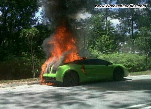 Lamborghini Gallardo Wrecked Kuala Lumpur Malaysia