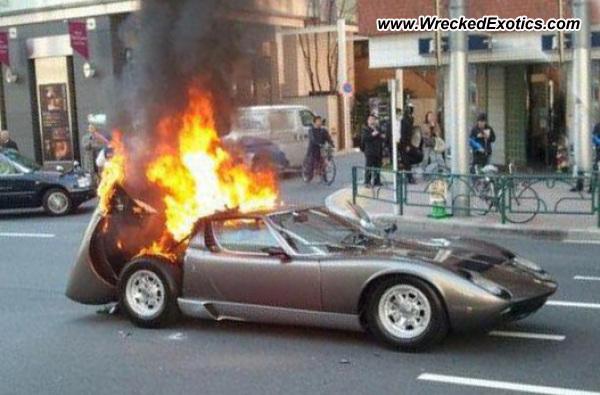 Lamborghini Miura Wrecked Usa