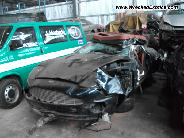 Aston Martin Vanquish Wrecked Switzerland