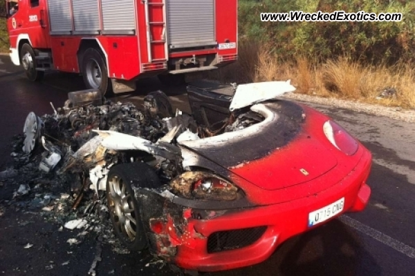 Ferrari 360 Spider Wrecked Valencia Spain