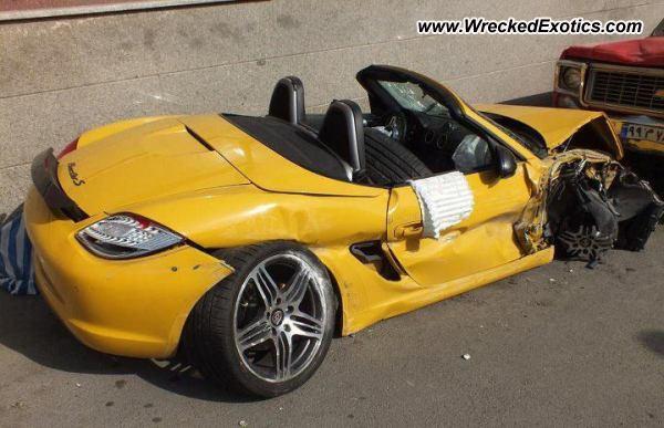 Porsche Boxster S Wrecked Tehran Iran