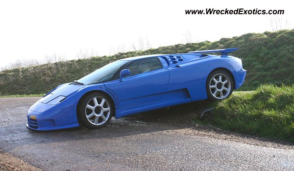 Bugatti Eb110 Wrecked Unknown