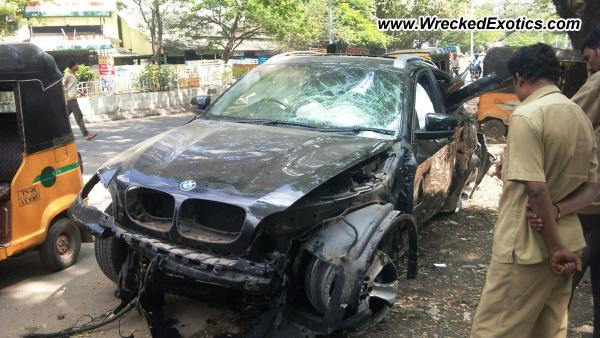 Bmw X6 With Hamann Kit Wrecked Chennai India